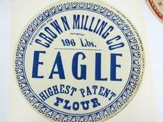 6 Color Printed Flour Barrell Labels 1800s : Lot 941 $40 - $300