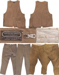 Mens Collections: Abercrombie and Fitch 1900-1911 Antique Hunting Clothing