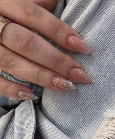 Nails art - Nails art Simple but not basic ( nail design) Simple Acrylic Nails, Almond Acrylic Nails, Fall Acrylic Nails, Fall Nails, Summer Nails, Acrylic Art, Holiday Nails, Christmas Nails, Simple Christmas