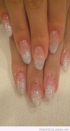 Wonderful holographic glitter fade nails