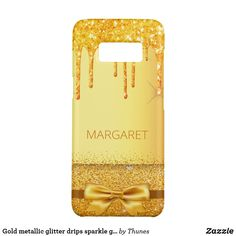 Shop Gold metallic glitter drips sparkle golden name Case-Mate samsung galaxy case created by Thunes. Samsung Galaxy, Galaxy S8, Golden Glitter, Drip Painting, Gold Paint, Tech Accessories, Sparkle, Phone Cases, Gifts