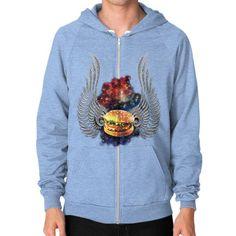 Flying Burger Zip Hoodie (on man)