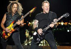 Kirk Hammett and James Hetfield