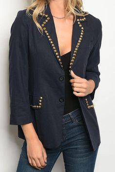 5deaf83d5ec Super cool and classy studded blazer to give your outfit that little bit of  edge