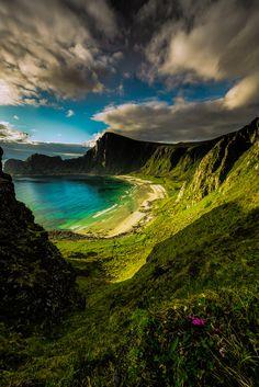 The hidden beach - Last year's shot of Høyvika in Andøy,Northern Norway