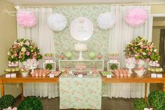 Gorgeous baby shower set up Baby Shower, Girl Shower, Bridal Shower, Girl Birthday, Birthday Parties, Bird Party, Candy Table, Holidays And Events, Event Decor