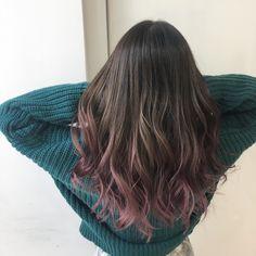 Length of color Dyed Tips, Hair Dye Tips, Dip Dye Hair, Dye My Hair, Hair Color Pink, Hair Dye Colors, Cool Hair Color, Purple Hair, Burgundy Hair