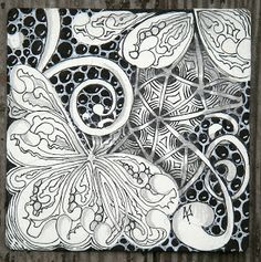 Zentangle: William Morris #19 ~ by Zentangle founder Maria Thomas