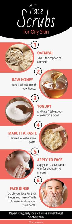 Oatmeal with Honey and Yogurt Face Scrubs for Oily Skin