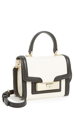 $298, White and Black Leather Crossbody Bag: kate spade new york Carroll Park Mini Penelope Crossbody Bag Cet Black. Sold by Nordstrom. Click for more info: https://lookastic.com/women/shop_items/103996/redirect