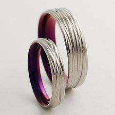 Possible Wedding bands!! :)  Titanium Wedding Bands  The Sphinx  in Mystic by RomasBanaitis, $170.00