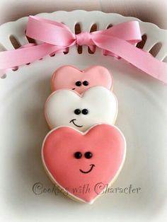 Variety of valentine's cookies. Some fun originial ideas