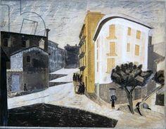 Edward Bawden Enna, Sicily, 1952 (w/c & gouache on paper)