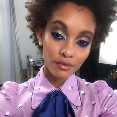 """98 Likes, 7 Comments - Marc Jacobs Beauty Global MUA (@gilbert_soliz) on Instagram: """"@samile_b looking gorge in #outoftheblue #mattehighliner Loved creating these looks for…"""""""