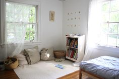 Cozy Reading Nook & Beautiful Seasonal Books for Kids via Homesong