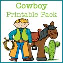 An early learning printables pack for children that contains games and activities to use when doing a unit study on cowboys. Includes: vocabulary cards, puzzles, counting activities, beginning sounds and more. Daycare Themes, Preschool Themes, Preschool Lessons, April Preschool, Preschool Plans, Preschool Winter, Preschool Education, Preschool Curriculum, Preschool Classroom