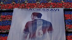 Best soccer Tifos from around the world:     Barcelona:   Barcelona fans bid farewell to veteran midfielder Xavi with this banner at his last league game at Camp Nou before he departs for Qatari club Al Sadd.