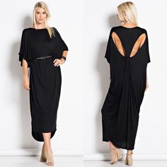 "X ""Byzantium"" Cut Out Maxi Dress Cut out back black maxi dress. BELT NOT INCLUDED. Brand new. True to size. NO TRADES. Bare Anthology Dresses Maxi"