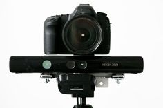 Instructable for creating the aluminum mount for Kinect & DSLR/video camera for use with the RGBDToolkit.