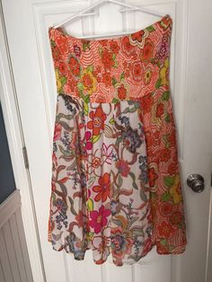 Chesley 1X Plus Size Dress Strapless Floral Print Boho Hippie Cruise Vacation #Chesley #Dress #Casual