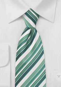 Kennedy Blue Green Striped Men's Tie KB3689 | Kennedy Blue