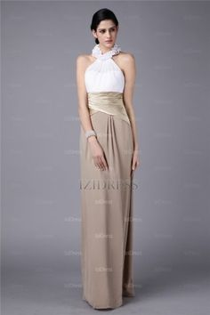 Sheath/Column High Neck Chiffon Evening Dresses - IZIDRESSBUY.COM at IZIDRESSBUY.com