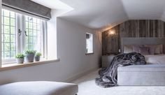 Barnwood & soft greys in this stylish master bedroom suite by Janey Butler Interiors Forest Cottage, Best Interior Design, Floor Space, Contemporary Bedroom, Bedroom Styles, Site Design, Kitchen Living, Barn Wood, Building Design