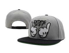 2014 hot!  NEW Gray Dope baseball Snapback Hats Hip-Hop adjustable bboy Cap