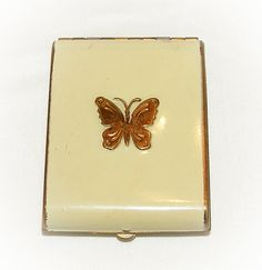 $68.00 https://www.etsy.com/listing/103038679/vintage-powder-compact-butterfly