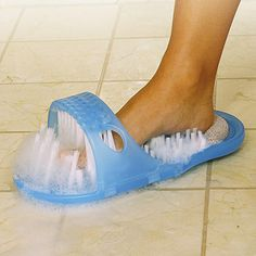 MUST get this!!!!!!!!!!!!!!!! These slippers that will scrub and massage your feet.