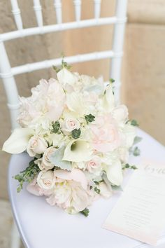 Bridal Bouquet with Calla Lillies. The white tones make this a classic!