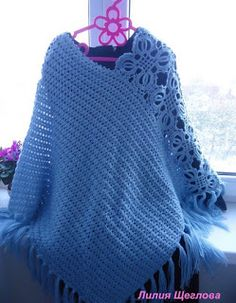 Free crochet patterns and video tutorials: How to crochet poncho shawl free pattern Crochet Wedding Dress Pattern, Crochet Tunic Pattern, Crochet Wedding Dresses, Crochet Coat, Crochet Jacket, Crochet Stitches Patterns, Crochet Blouse, Crochet Scarves, Crochet Clothes