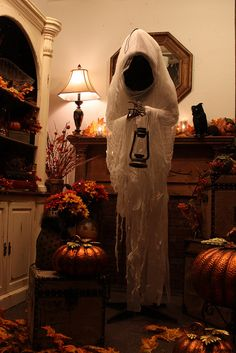skeleton ghost decoration for 2015 halloween lantern cheesecloth most creepy creative halloween ghost decoration ideas that you will like 2015 by - Creative Halloween Decoration Ideas