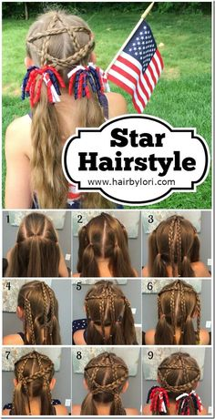 Star Hairstyle Tutorial #toddlerhairstyles