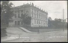 Østfold fylke Sarpsborg  FESTIVITETEN i 1919  Utg Normann, postgått 1920 Taj Mahal, Building, Painting, Travel, Art, Craft Art, Buildings, Painting Art, Viajes