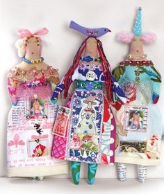 Beautiful textile art dolls by  artist Theresa Hutnick are sure to bring a smile to your face. Look for them in the May issue of Art Doll Quarterly.