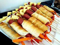 Mummy corndogs crescent wrapped