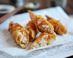 Shrimp Wrapped in Tofu Skin (鮮蝦腐皮券) | - crunchy, mouthwatering, dainty Cantonese appetizer