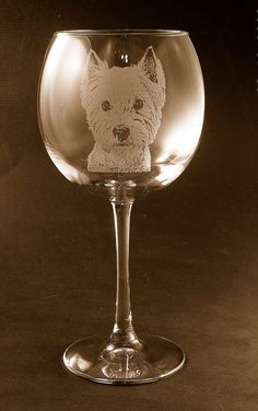 Etched West Highland Terrier / Westie on Elegant by stevesuniques, $23.00 I purchased these for my daughter-in-law and she loved them. I was impressed with the quality.