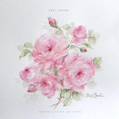 Romantic Roses Fine Art Original Print by Debi Coules - Debi Coules Romantic Art