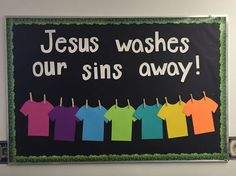 Jesus washes our sins away - Sunday school bulletin board
