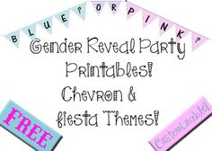 Bed Rested Teacher: Gender Reveal Party Materials