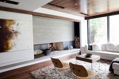 built in firewood storage