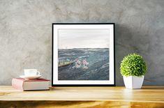 Sea Art Print/ Dublin Bay Art Print/ Seapoint Dubin/ Sea swimmers/ Monoprint Art/ Irish Sea/ Wall art decor/ Sport Art/ cold water/ Dublin Bay, Oil Pastel Paintings, Kids Room Paint, Irish Sea, Fairytale Art, Sea Art, Sports Art, Fish Art, Swimmers