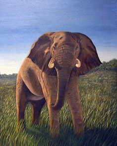 Elephant painting.... So realistic.