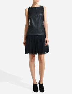 Forenza Studded Faux Leather Dress | Women's Dresses | THE LIMITED