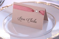 Wedding Place Cards, Blush Place Card, Seating Place Cards, Elegant Escort Cards, Custom Place Cards, Wedding Placement Cards by PioroWedding on Etsy