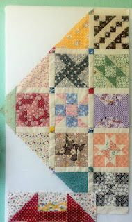 """Looks like a great quilt to make with all the """"extras"""" left over from other quilts...."""