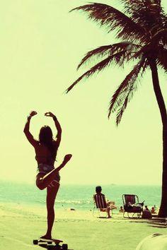 awesome, ballerina, beach, cute