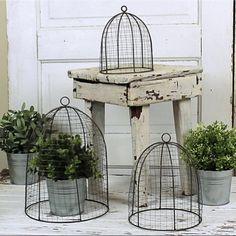 Wire Beehive Cloche Set